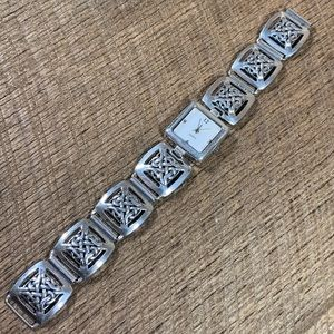 925 Sterling Silver Celtic Band Watch